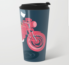 flat metal travel mug