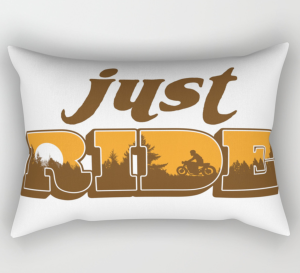 Just Ride Rectangular Pillow