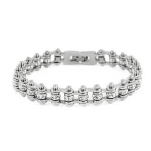 Mini Silver Chain Crystal Bracelet