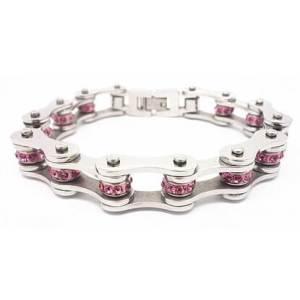 Pink Crystal Chain Bracelet