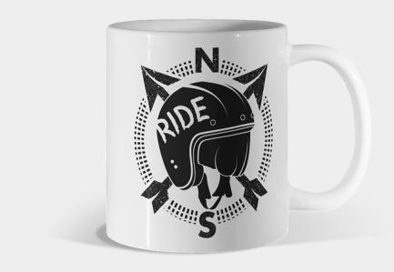 Retro Motorbike Helmet Mug