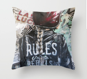 Rules Create Rebels Throw Pillow
